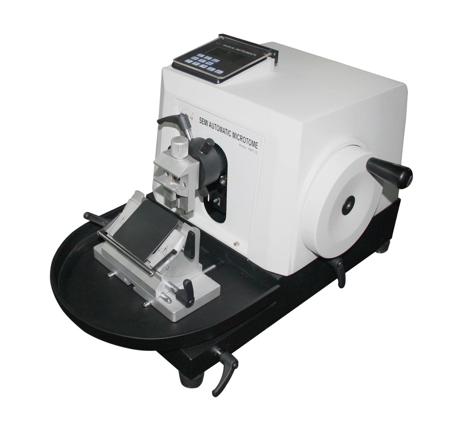 Semi Automatic Rotary Microtome - Microtomes, Histopathology Equipments